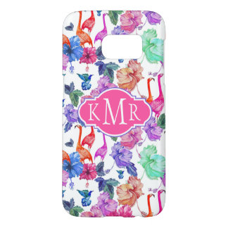 Tropical Watercolor Pattern | Monogram