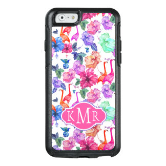 Tropical Watercolor Pattern | Monogram OtterBox iPhone 6/6s Case
