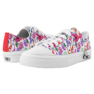 Tropical Watercolor Pattern Printed Shoes