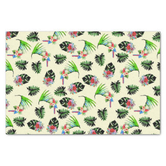 Tropical Watercolor Pattern Tissue Paper