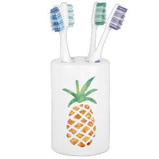 Tropical Watercolor Pineapple Bathroom Set
