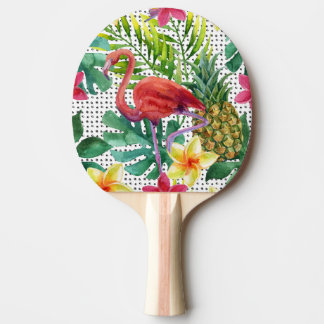 Tropical Watercolor Ping Pong Paddle