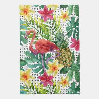 Tropical Watercolor Tea Towel
