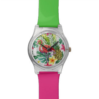 Tropical Watercolor Watch