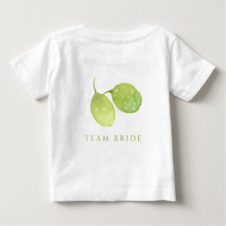TROPICAL WATERCOLOUR FOLIAGE MONOGRAM TEAM BRIDE BABY T-Shirt