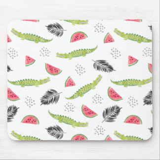 Tropical Watermelon & Crocodile Pattern Mouse Mat