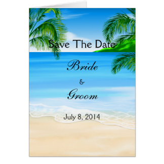 Tropical Waters Beach Wedding Save The Date Greeting Card
