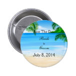 Tropical Waters Beach Wedding Save The Date Pin