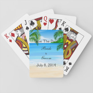 Tropical Waters Beach Wedding Save The Date Playing Cards