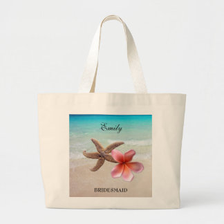 Tropical Wedding Bridal Party Personalized Tote Tote Bag