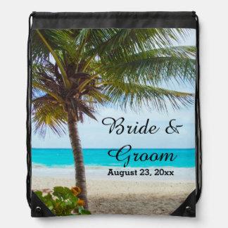 Tropical Wedding Drawstring Backpack