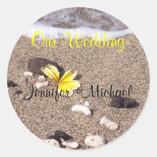 Tropical Wedding envelope seals