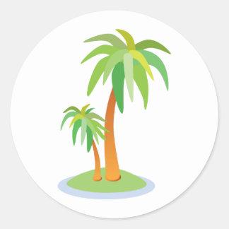 Tropical Wedding Palm Trees Envelope Seal