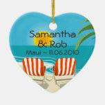 Tropical Wedding Personalised Ornament