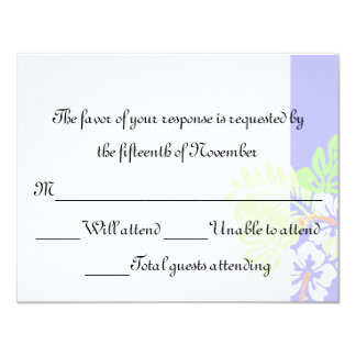 Tropical Wedding Response Card