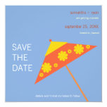 "Tropical wedding- save the date cards 5.25"" square invitation card"