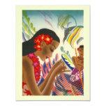 Tropical Wedding Save The Date Luau Announcements 11 Cm X 14 Cm Invitation Card