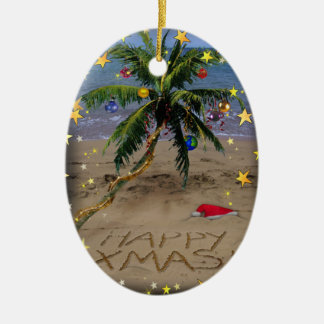 Tropical X-mas Christmas Ornament