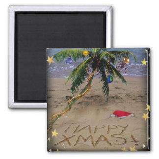 Tropical X-mas Square Magnet