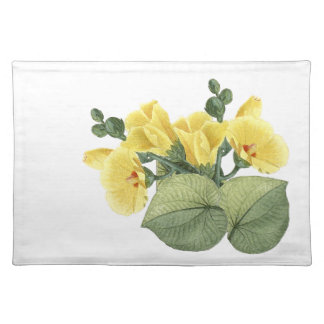 Tropical Yellow Hibiscus Flowers Placemat
