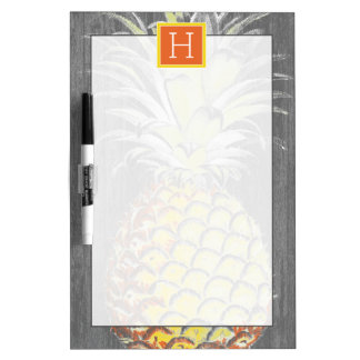 Tropical Yellow Pinneapple on Grey Dry-Erase Boards