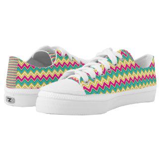 Tropical Zigzag Zipz Low Top Shoes Printed Shoes