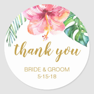 TropicalBeach Wedding favor label