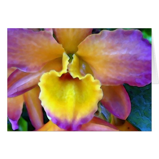 Tropicana Orchid Card