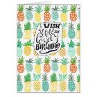 Tropics Birthday Pineapple Pattern | Greeting Card