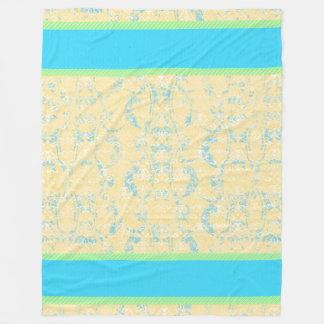Tropics Damask Fleece Blanket