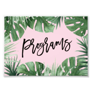 Tropics Programs Print Photo Art
