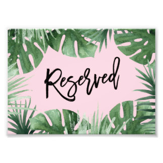 Tropics Reserved Print Art Photo