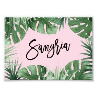 Tropics Sangria Print Photographic Print
