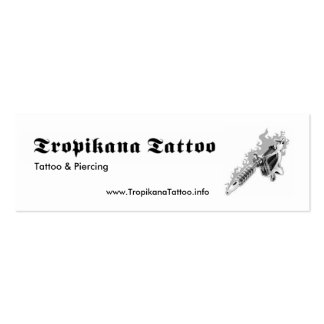 Tropikana Tattoo Business Card Template