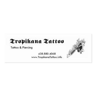 Tropikana Tattoo Pack Of Skinny Business Cards