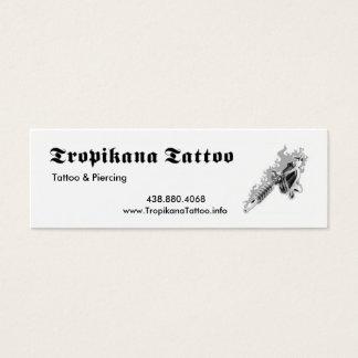 Tropikana Tattoo Mini Business Card