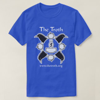 Troth B&W Full Front Dark Tee
