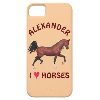 Trotting Bay Arabian Horse Brown I Heart Horses iPhone 5 Cases