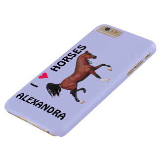Trotting Bay Arabian Horse Brown I Heart Horses Barely There iPhone 6 Plus Case