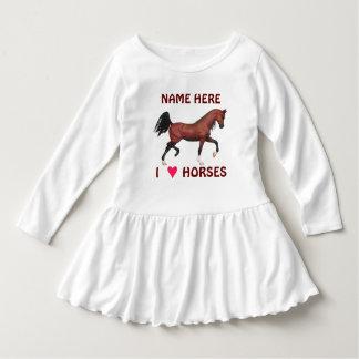 Trotting Bay Arabian Horse Pony I Heart Horses T Shirt