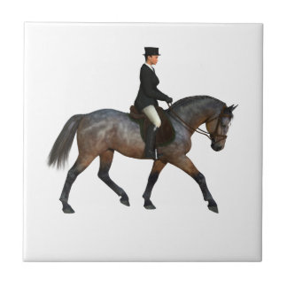 Trotting Dressage Horse Tile