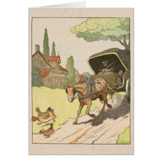 Trotting Horse and Buggy Greeting Card