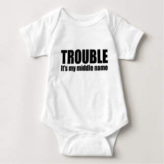 Trouble - It's my middle name Baby Bodysuit