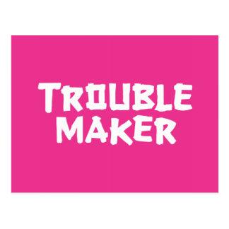 Trouble Maker Postcard