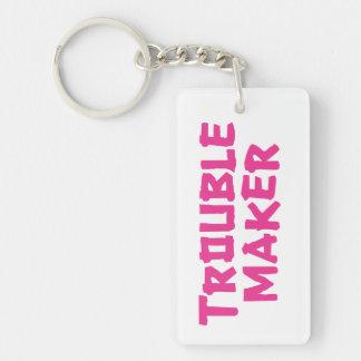 Trouble Maker Single-Sided Rectangular Acrylic Key Ring