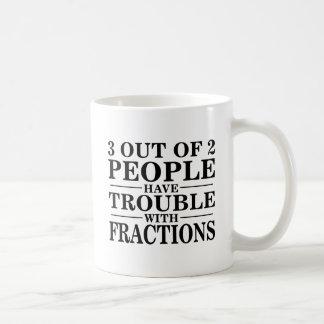 Trouble With Fractions Basic White Mug