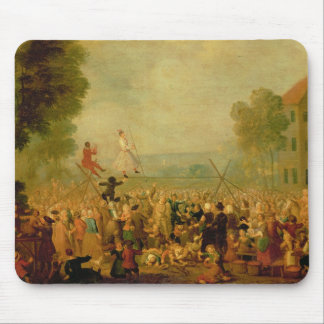 Troupe of Actors Performing on a Tightrope Mouse Mat