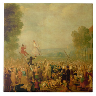 Troupe of Actors Performing on a Tightrope Tile