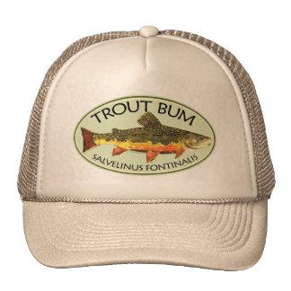 Trout Bum Fishing Trucker Hat