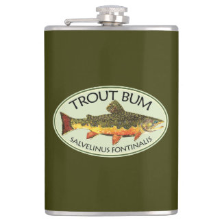 Trout Bum Fishing Hip Flask